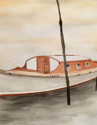 Aquarelles-bateau