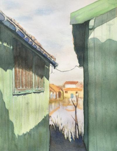 Aquarelles-cabane