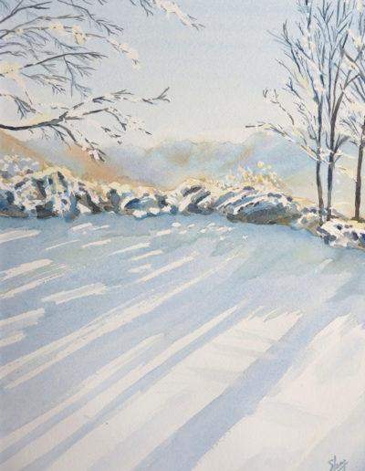 Aquarelles-neige