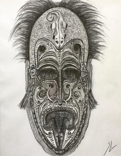 Fusains-masque