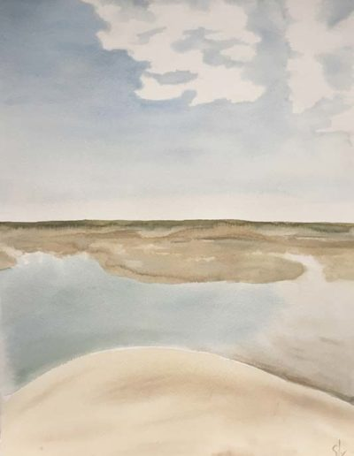 Tableaux Entre terre et mer Aquarelle 1