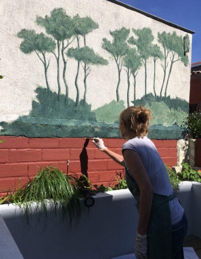 Execution du décor à l'échelle par Atelier Wall Decor Stephanie Van de Walle